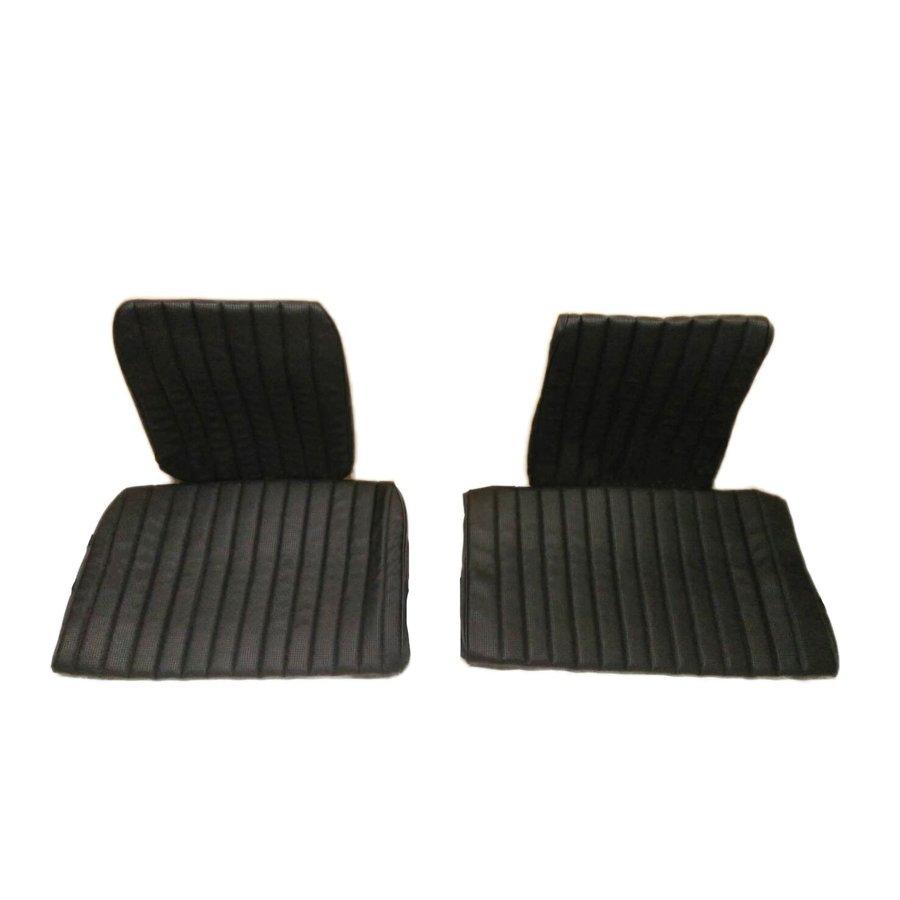 Garniture origine banquette AR BK (en 2 pieces) simili noir (assise 2 pièces dossier 2 pièces) Citroën ID/DS-3