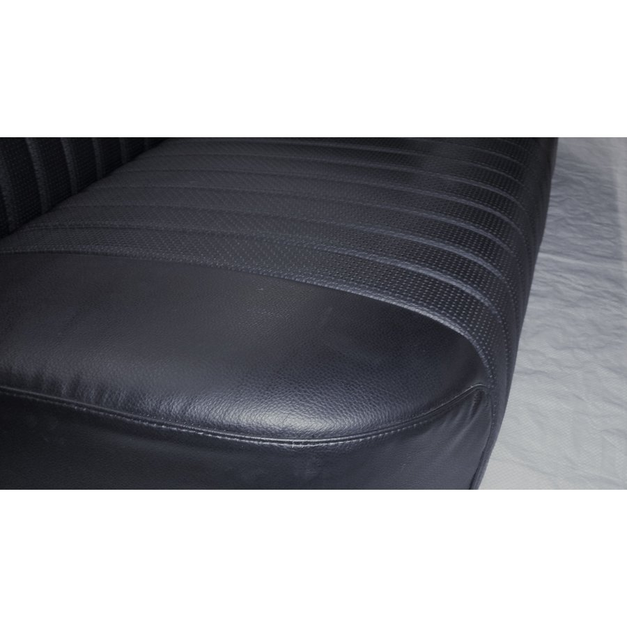 Rear bench newly trimmed in black leatherette Citroën ID/DS-3