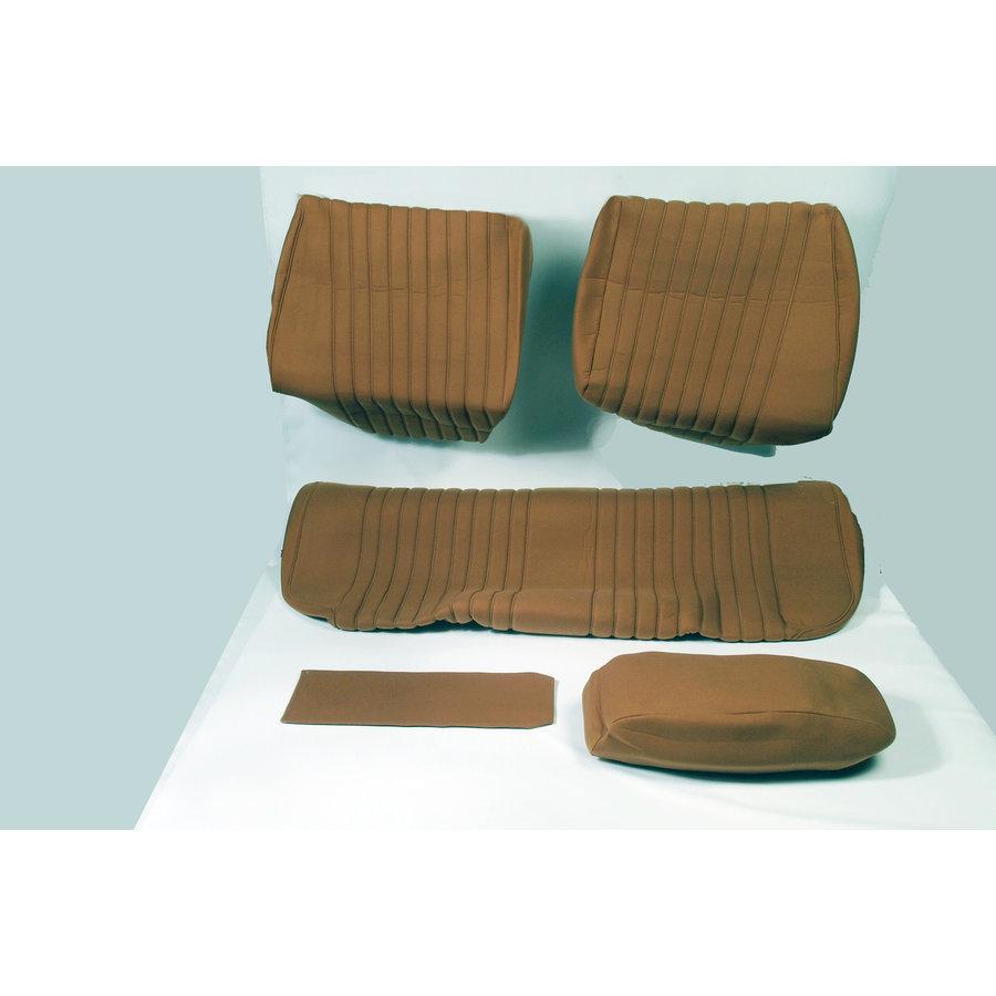 Garniture pour banquette AR en étoffe jaune unie pour assise 1 pièce dossier 4 pièces Citroën ID/DS-1