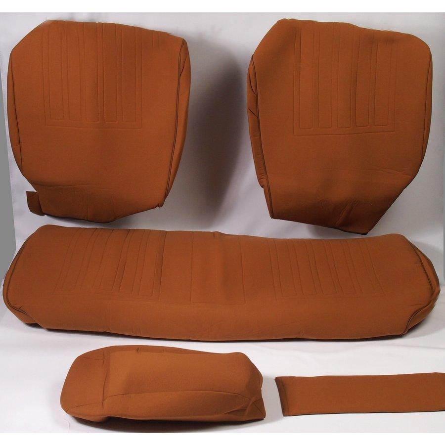 Garniture pour banquette AR en étoffe jaune unie pour assise 1 pièce dossier 4 pièces Citroën ID/DS-3
