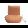 ID/DS Garniture siège AV PA en étoffe jaune (partie centrale en deux tons) pour assise + dossier Panneau de fermeture en simili blanchâtre Citroën ID/DS