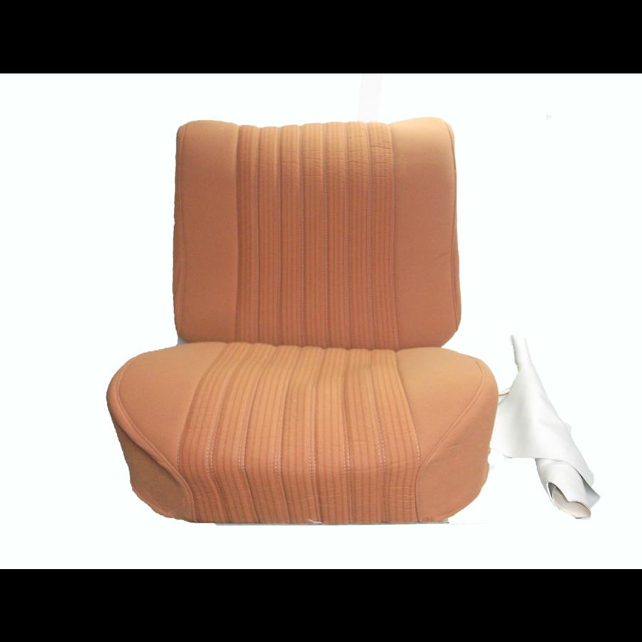 Garniture siège AV PA en étoffe jaune (partie centrale en deux tons) pour assise + dossier Panneau de fermeture en simili blanchâtre Citroën ID/DS-1