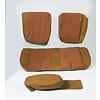 ID/DS Sitzbezugsatz für Pallas Hinterbank Stoff-bezogen ocker (Mittelteil mit Bahnen): Sitz 1 Teil Rückenlehne 4 Teile Citroën ID/DS