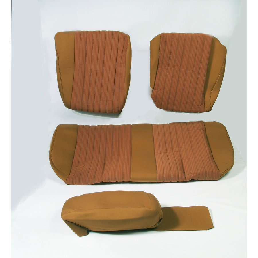 Garniture pour banquette AR PA en étoffe jaune (partie centrale en deux tons) pour assise 1 pièce dossier 4 pièces Citroën ID/DS-1
