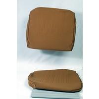 thumb-Garniture siège AV en étoffe jaune unie pour assise + dossier Panneau de fermeture en simili blanchâtre imprimé gauffre Citroën ID/DS-1