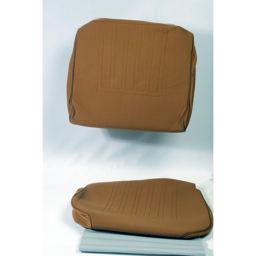 Satz für Vordersitzbezug Stoff-bezogen ocker (1 Farbton): Sitz + Rückenlehne + Abschlussfüllung in weißemTarga Waffel-Modell Citroën ID/DS-1