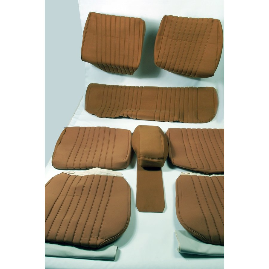 Set of seat covers for 1 car pallas from from 69 ocher cloth Citroën ID/DS-1