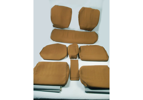 Set of seat covers for 1 caruperpecial ocher cloth Citroën ID/DS