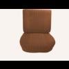 ID/DS Vordersitz montiert auf Grundrahmen Stoff gold (Mittelteil in 2 Tönen) ( ohne Drehrad Rückenplatte und Kopfstütze) nach 68 Citroën ID/DS
