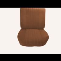 thumb-Vordersitz montiert auf Grundrahmen Stoff gold (Mittelteil in 2 Tönen) ( ohne Drehrad Rückenplatte und Kopfstütze) nach 68 Citroën ID/DS-1
