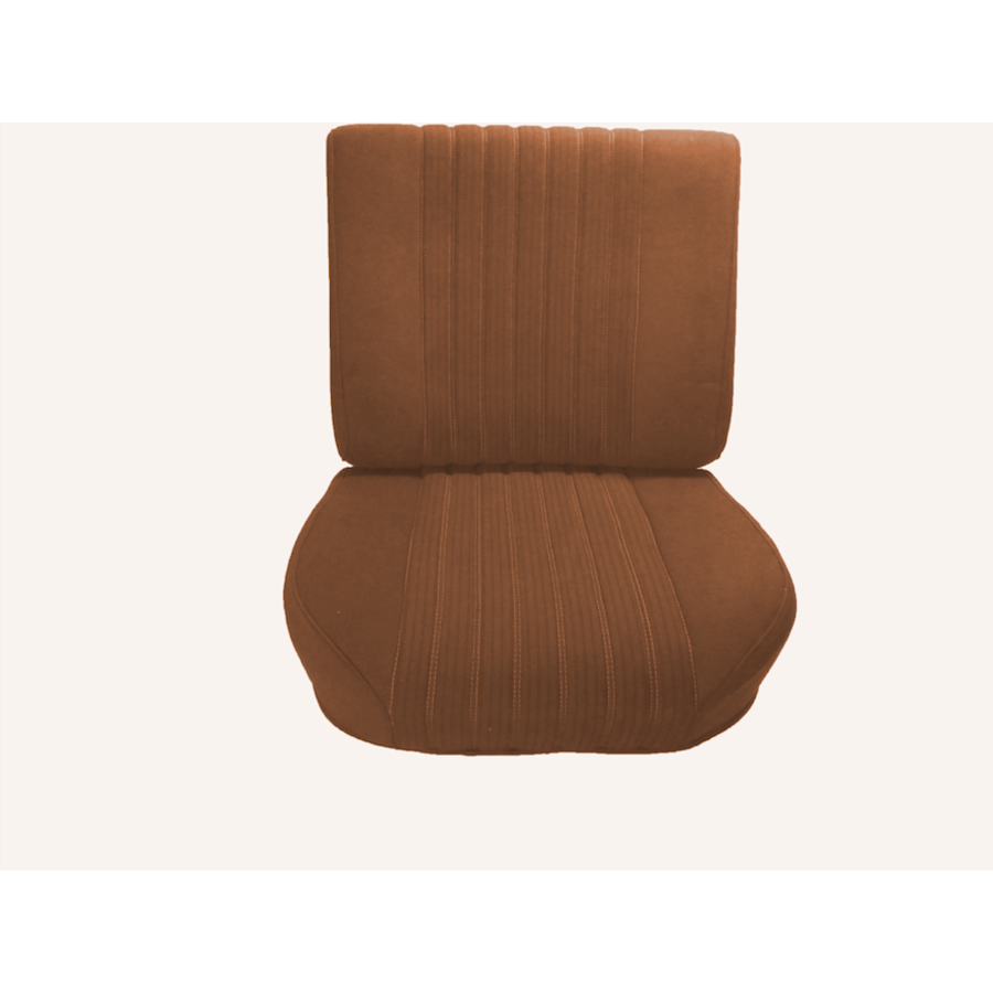 Front seat in gold cloth (central part 2 tones) mounted on base frame without weel without back cover plate without preparation for head rest 68 Citroën ID/DS-1