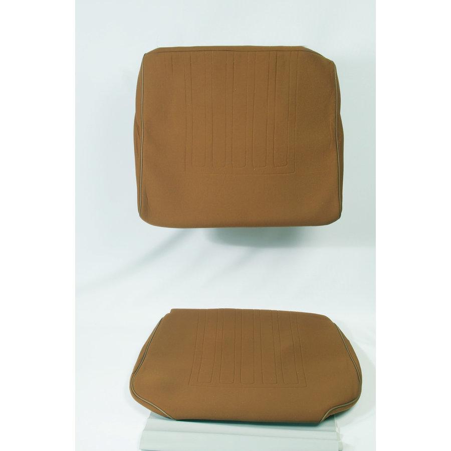 Satz für Vordersitzbezug Stoff-bezogen caramel (1 Farbton): Sitz + Rückenlehne + Abschlussfüllung in weißemTarga Waffel-Modell Citroën ID/DS-1
