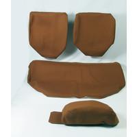 thumb-Garniture pour banquette AR en étoffe caramel unie pour assise 1 pièce dossier 4 pièces imprimé gauffre Citroën ID/DS-2