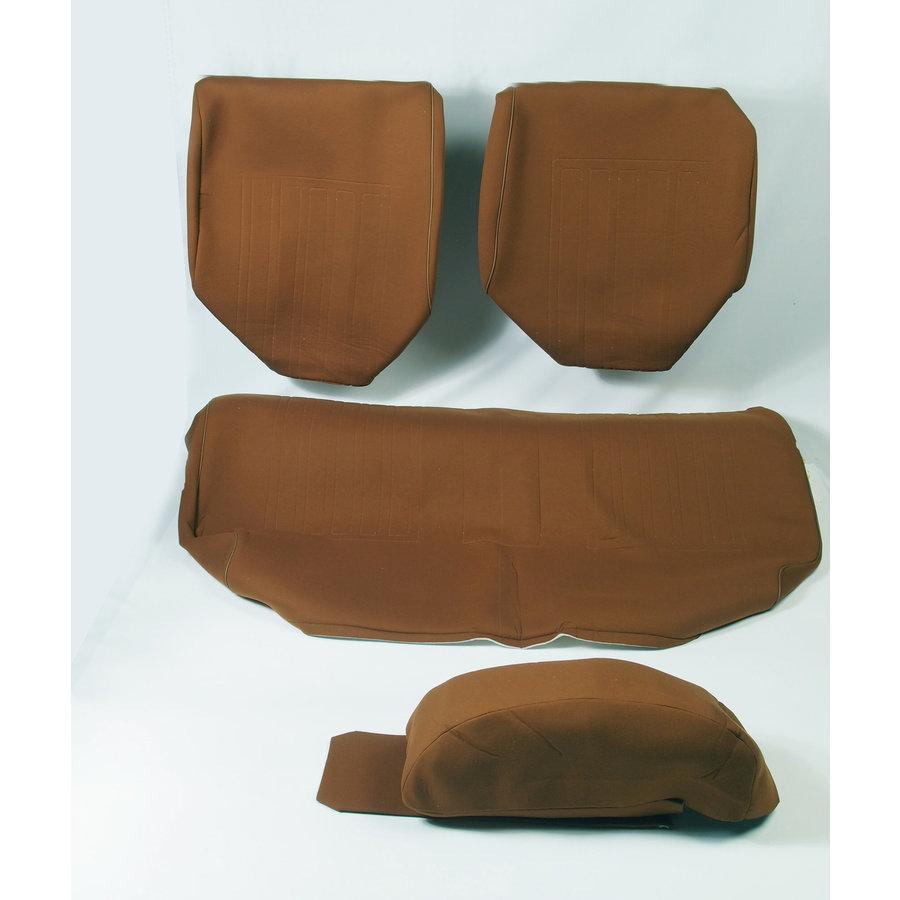 Garniture pour banquette AR en étoffe caramel unie pour assise 1 pièce dossier 4 pièces imprimé gauffre Citroën ID/DS-2