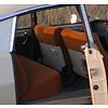 ID/DS Garniture complète (2 sièges AV + 1 banquette AR) en étoffe caramel unie imprimé gauffre Citroën ID/DS