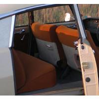 thumb-Garniture complète (2 sièges AV + 1 banquette AR) en étoffe caramel unie imprimé gauffre Citroën ID/DS-1