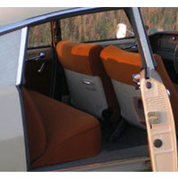thumb-Set of seat covers for 1 caruperpecial caramel cloth Citroën ID/DS-1