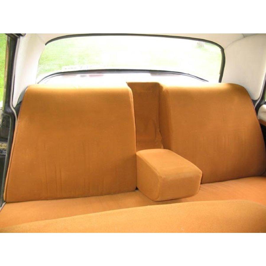 Garniture complète (2 sièges AV + 1 banquette AR) en étoffe caramel unie imprimé gauffre Citroën ID/DS-3