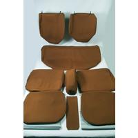thumb-Garniture complète (2 sièges AV + 1 banquette AR) en étoffe caramel unie imprimé gauffre Citroën ID/DS-5