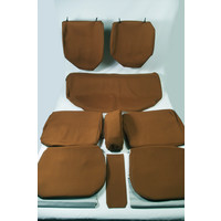 thumb-Set of seat covers for 1 caruperpecial caramel cloth Citroën ID/DS-5
