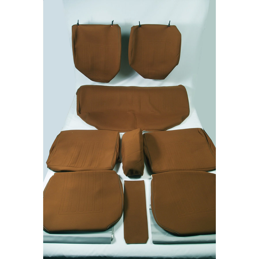 Set of seat covers for 1 caruperpecial caramel cloth Citroën ID/DS-5