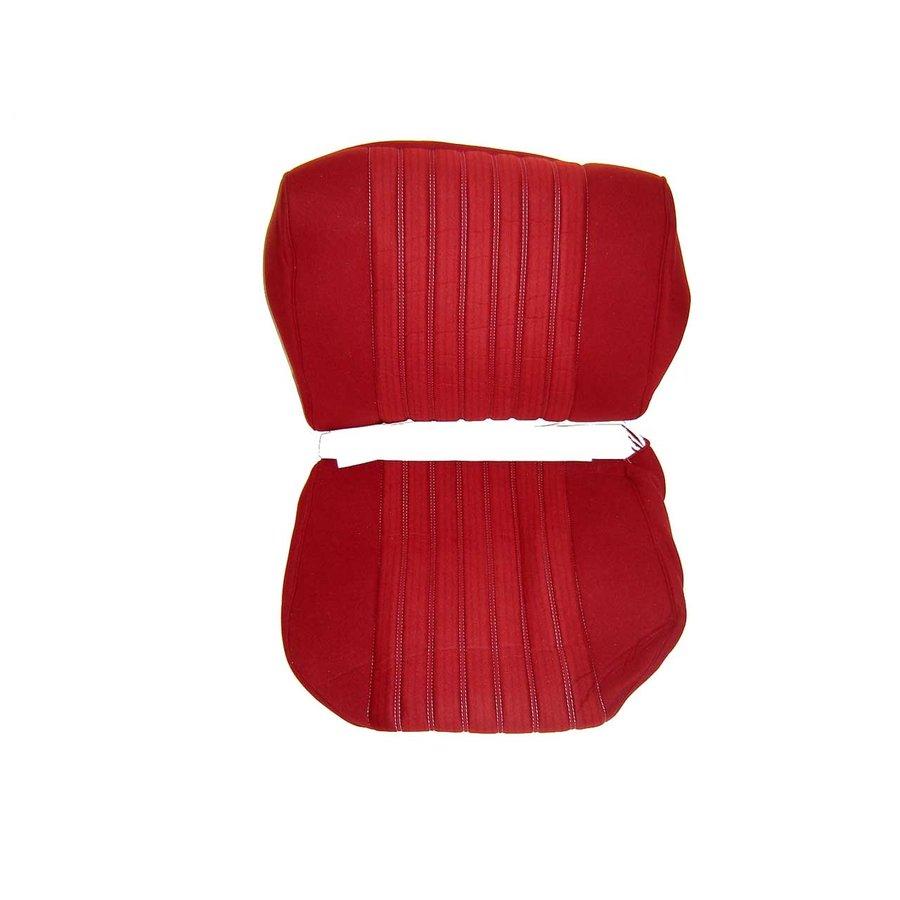Garniture siège AV PA en étoffe rouge (partie centrale en deux tons) pour assise + dossier Panneau de fermeture en simili blanchâtre Citroën ID/DS-1