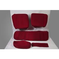 thumb-Garniture pour banquette AR PA en étoffe rouge (partie centrale en deux tons) pour assise 1 pièce dossier 4 pièces Citroën ID/DS-2
