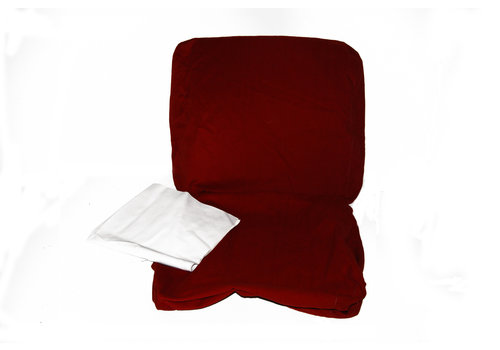 Front seat cover old model bright red cloth Citroën ID/DS, till 9/'68