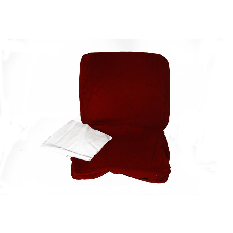 Front seat cover old model bright red cloth Citroën ID/DS,  till 9/68-1