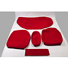 ID/DS Achterbankhoes fel rood stof oud type brede armsteun 20cm Citroën ID/DS