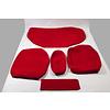 ID/DS Sitzbezugsatz für Hinterbank Stoff-bezogen hellrot breite Armlehne Citroën ID/DS