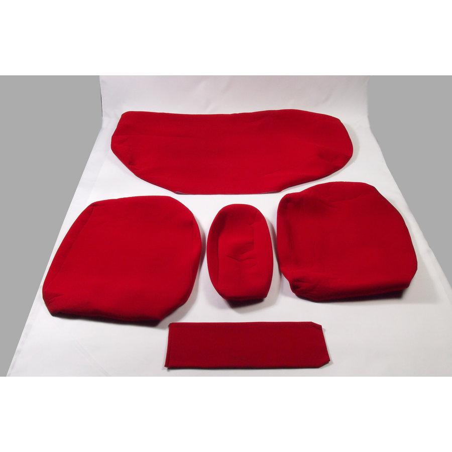 Garniture pour banquette AR en étoffe rouge écarlate accoudoir large Citroën ID/DS-1