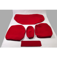 thumb-Rear bench cover old model wide armrest red cloth Citroën ID/DS-2