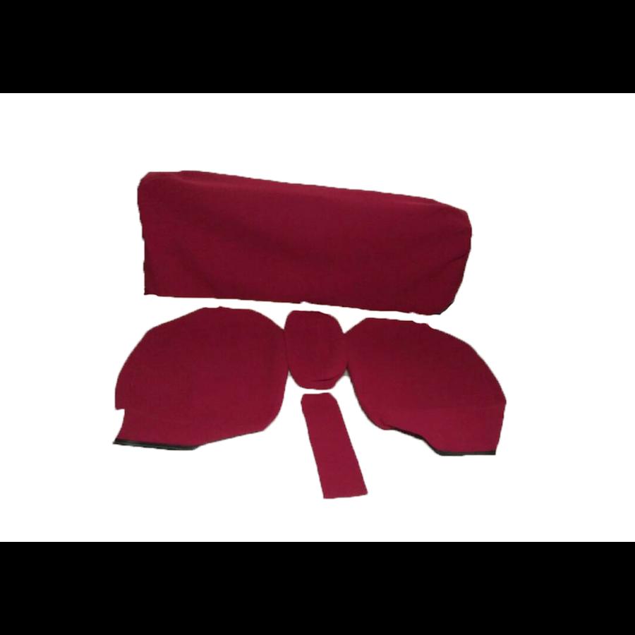 Garniture pour banquette AR en étoffe rouge écarlate accoudoir large Citroën ID/DS-4