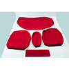 ID/DS Rear bench cover old model narrow armrest red cloth Citroën ID/DS