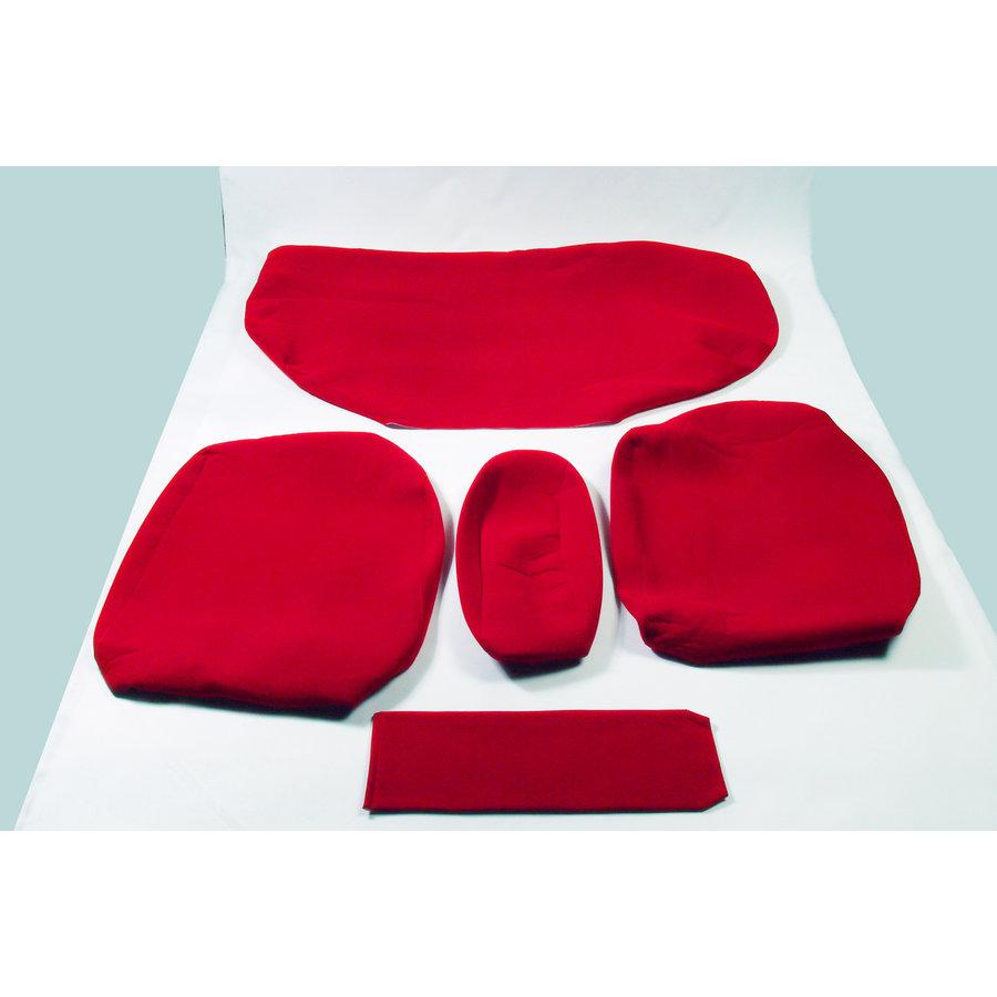 Garniture pour banquette AR en étoffe rouge écarlate accoudoir étroit Citroën ID/DS-1