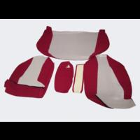 thumb-Garniture pour banquette AR en étoffe rouge écarlate accoudoir étroit Citroën ID/DS-2
