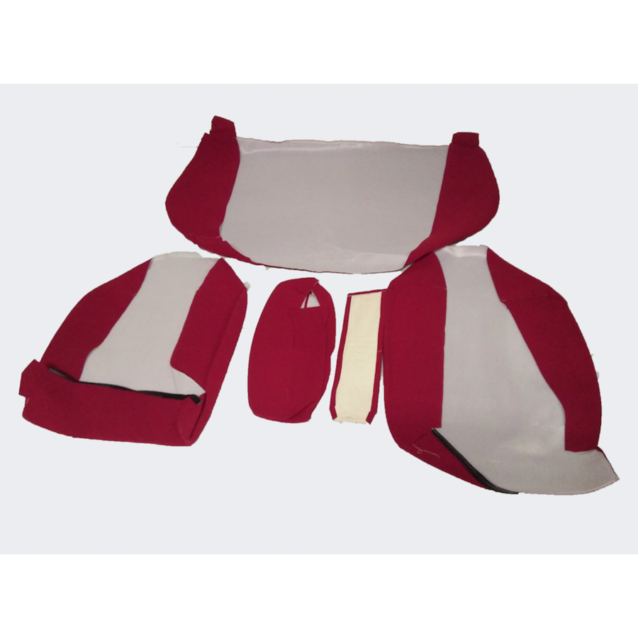 Garniture pour banquette AR en étoffe rouge écarlate accoudoir étroit Citroën ID/DS-2