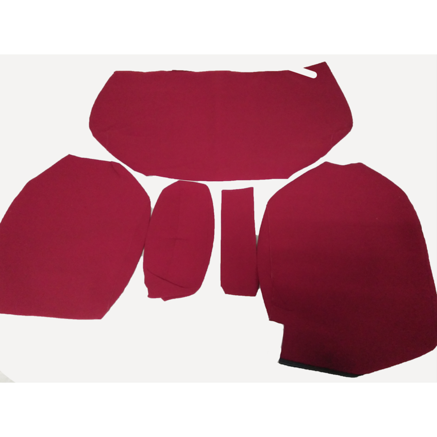 Garniture pour banquette AR en étoffe rouge écarlate accoudoir étroit Citroën ID/DS-4