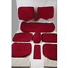 ID/DS Cover set red fabric Pallas (WITHOUT WHITE  LEATHERETTE PIECE BEHIND FRONT SEAT) '69 Citroën ID / DS
