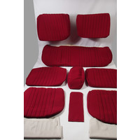 thumb-Cover set red fabric Pallas (WITHOUT WHITE  LEATHERETTE PIECE BEHIND FRONT SEAT) '69 Citroën ID / DS-1