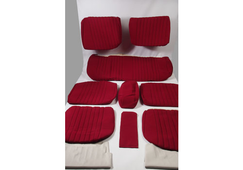Set of seat covers for 1 car Pallas '69 red cloth Citroën ID/DS