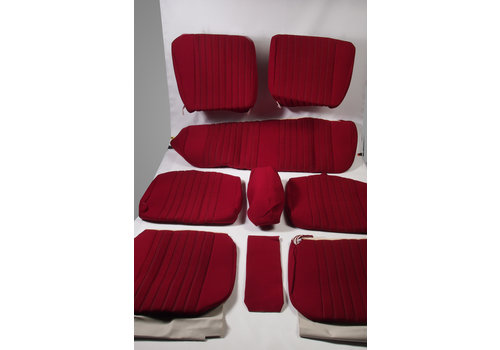 Set of seat covers for 1 car pallas 70-73 red cloth Citroën ID/DS