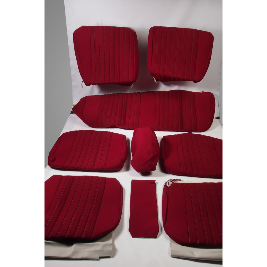 Set of seat covers for 1 car pallas 70-73 red cloth Citroën ID/DS-1