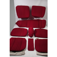 thumb-Set of seat covers for 1 car pallas 70-73 red cloth Citroën ID/DS-2
