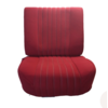 ID/DS Front seat half mounted pallas 70-73 red cloth Citroën ID/DS
