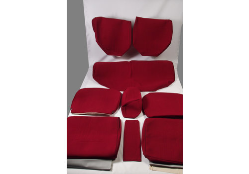 ID/DS Set of seat covers for 1 car. Dsuper Dspecial red cloth Citroën ID/DS
