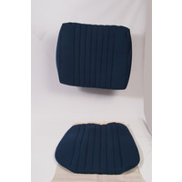 Sitzbezugsatz für Vordersitz Stoff-bezogen blau (1 Farbton): Sitz + Rückenlehne + Abschlussfüllung in weißemTarga Citroën ID/DS