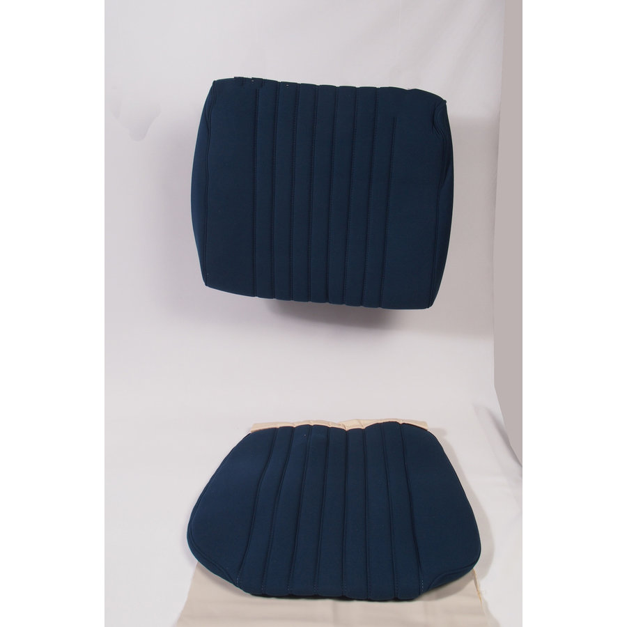 Sitzbezugsatz für Vordersitz Stoff-bezogen blau (1 Farbton): Sitz + Rückenlehne + Abschlussfüllung in weißemTarga Citroën ID/DS-1