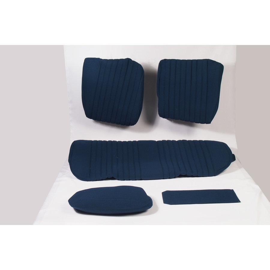 Sitzbezugsatz für Hinterbank Stoff-bezogen blau (1 Farbton): Sitz 1 Teil Rückenlehne 4 Teile Citroën ID/DS-1